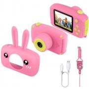 Детский цифровой фотоаппарат Zoo Kids зайка (розовый)