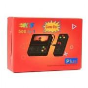 Портативная приставка Game Box + Plus K5 500 в 1 с джойстиком (Желтая)