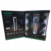 Машинка для стрижки волос на аккумуляторе 6 в 1 VGR V-029