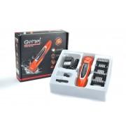 Машинка для стрижки волос на аккумуляторе Pro Gemei GM-787 оранжевый