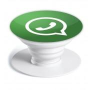 Попсокет - держатель для телефона с принтом WhatsApp.