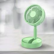 Портативный складной вентилятор Folding Fan JH-2028 (Зеленый)