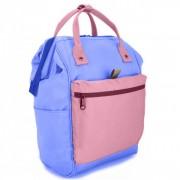 Сумка-рюкзак middle (Синий с розовым)