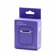 Силиконовый чехол для наушников AirPods 2 Silicone Case фиолетовый