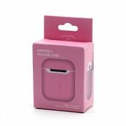 Силиконовый чехол для наушников AirPods 2 Silicone Case розовый