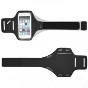 Спортивный чехол для смартфона на руку универсальный 5,5 - 6 дюймов водонепроницаемый (Черный)