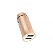 Автомобильное зарядное устройство Borofone BZ4 Roader Dual USB Port Metallic Car Charger (Золото)