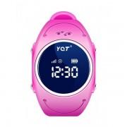 Водонепроницаемые детские умные GPS часы Wonlex q520s (Розовый)