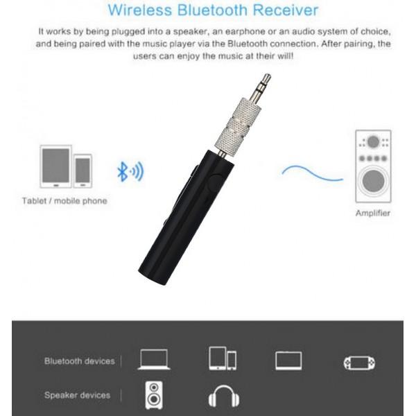 Беспроводной автомобильный приемник Car aux Bluetooth audio hands-free (Черный)