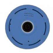 Беспроводная панорамная IP камера Wi-Fi panoramic camera V380 2 мегапикселя (Голубой)