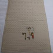 Полотенце вафельное Ложки вилки 5810 (Бежевый)