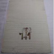 Полотенце вафельное Ложки вилки 5810 (Молочный)
