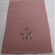 Полотенце вафельное Ложки вилки 5810 (Розовый)