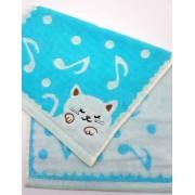 Полотенце Музыкальный котенок 25х50 2123 (Голубой)