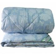 Одеяло лебяжий пух теплое 145 150х205 (Голубой)