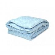 Одеяло Павлин лебяжий пух 175х205 (Голубой)