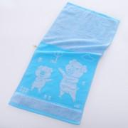 Полотенце Поросята махра 34х76 (Голубой)