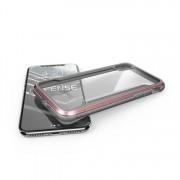 Противоударный чехол накладка X-Doria Defense Shield Clear для iPhone X iPhone XS (Розовый)