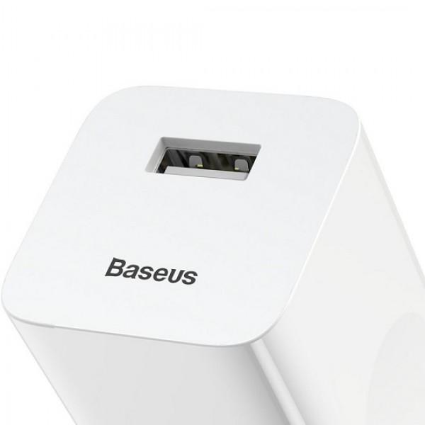 Зарядное устройство Quick Charge Baseus USB 12V/2A CCALL-BX02 (Белый)