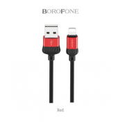 Кабель USB Borofone BX8 MaxSync Lightning 1м (Красный)