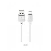Кабель USB Borofone BX8 MaxSync Lightning 1м (Серебро)