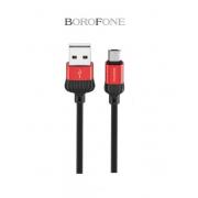 Кабель USB Borofone BX8 MaxSync Micro 1м (Красный)