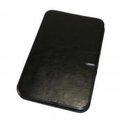 Чехол книжка универсальный для планшета 6 дюймов с силиконовой вставкой (Черный)