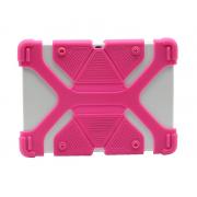 Универсальный силиконовый чехол для планшета с диагональю 7-8 дюймов (Розовый)
