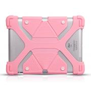 Универсальный силиконовый чехол для планшета с диагональю 7-8 дюймов (Светло розовый)