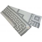 Хлопковый жаккардовый плед Vladi Греция 140х205 (Светло-серый)