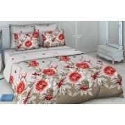 Комплект постельного белья Василиса 3442-2 Пион и барбарис бязь 1,5 спальное