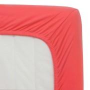 Трикотажная простынь на резинке Мерцана 140x200 (Коралловый)