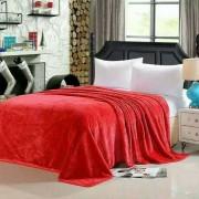 Плед плюшевый E-shine 2-спальный размер 160 на 200 (Красный)