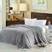 Плед плюшевый E-shine 2-спальный размер 160 на 200 (Серый)