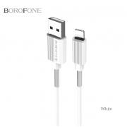 Кабель USB Borofone BX11 uJet Lightning 1м (Белый)