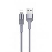 Кабель USB Borofone BX2 PowerSync Lightning 1м (Серый)