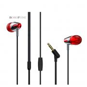 Наушники Borofone BM13 CoolMelody 3.5mm Wired Control Earphone (Красный)
