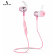 Беспроводные наушники Borofone BE5 Cool Running Magnetic Sports Bluetooth Earphone (Розовый)