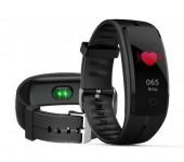 Фитнес-браслет QS 100 с измерением давления и пульса (Черный)