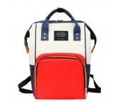 Сумка-рюкзак для мамы living traveling share (Синий с красным)
