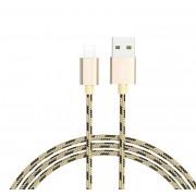 Кабель USB Borofone BX9 MagicSync Lightning 1м (Золотой)