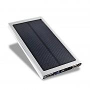 Портативный аккумулятор Solar на солнечной батарее (Серебро)