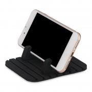 Силиконовый коврик держатель для смартфона в автомобиль D15 (Черный)
