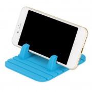 Силиконовый коврик держатель для смартфона в автомобиль D15 (Синий)