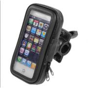 Водонепроницаемый чехол держатель на руль велосипеда, мотоцикла и скутера для смартфона 4,3-5 (Черный)