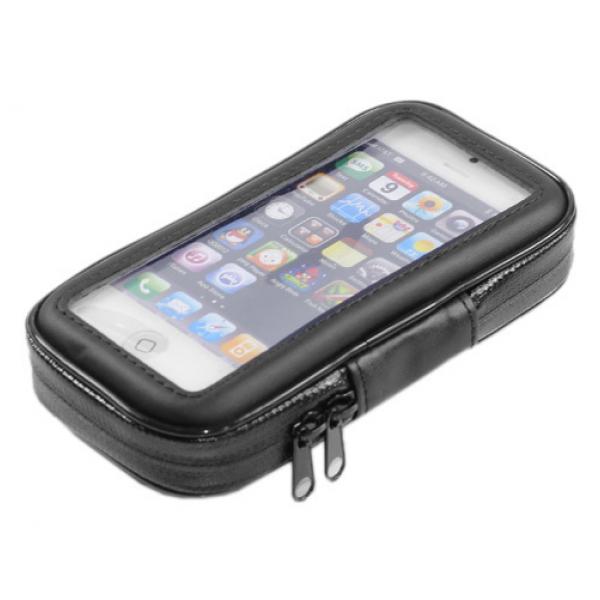 Водонепроницаемый чехол держатель на руль велосипеда, мотоцикла и скутера для смартфона 6 дюймов (Черный)