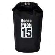 Сумка на пляж непромокаемая, водонепроницаемая объем 15 литров (Черная)