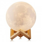 Ночник светильник настольный Луна 18 см touch функция с аккумулятором