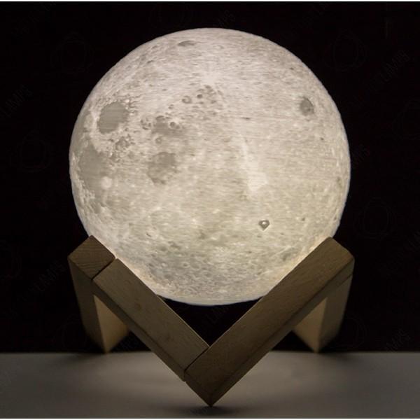 Ночник светильник настольный Луна 20 см с аккумулятором