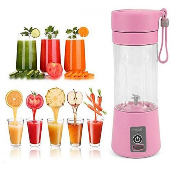 Бутылка блендер шейкер Daiweina Juicer Cup (Розовый)